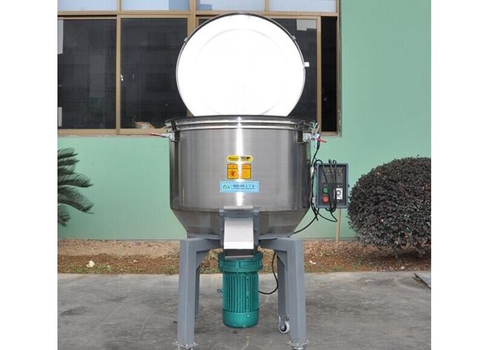 Power 0.75kw Plastic Mixture Machine , Vertical Agitator 100kg/H Plastic Material Mixer Machine