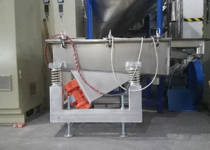 Shaker Separator Vibrating Sieve Machine For Plastic 650mm Middle Outlet Height