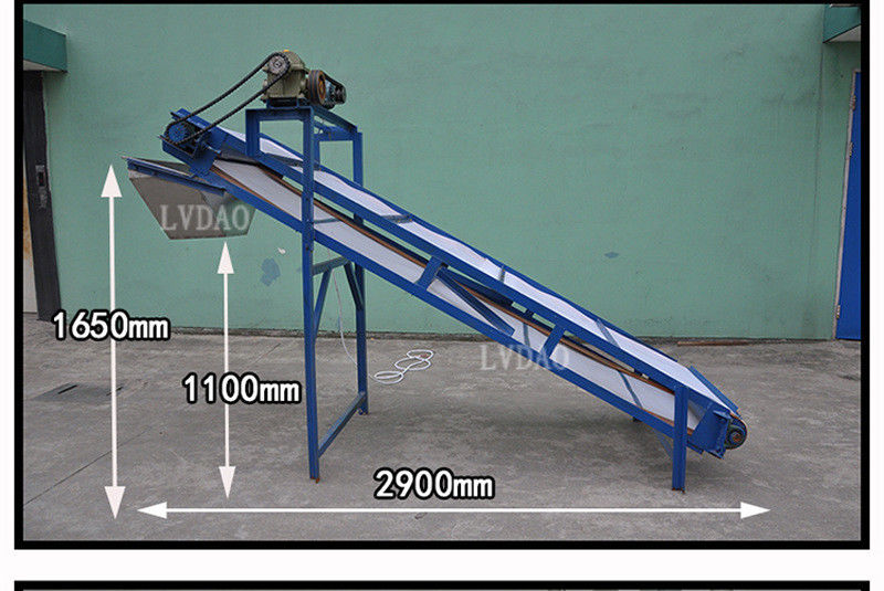 Desk Plastic Conveyor System 1.1kw Mesh Conveyor Belt 2950 * 1650 * 1000mm