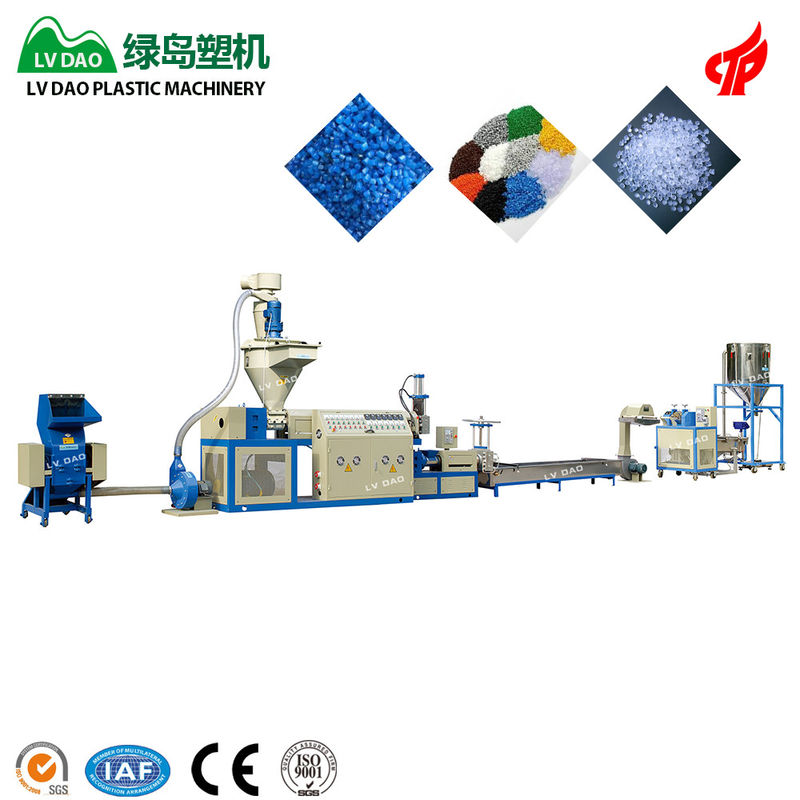 Big PP Plastic Recycling Machine Pellet Machine 45 - 55kw Power 150 - 170kg/H Output