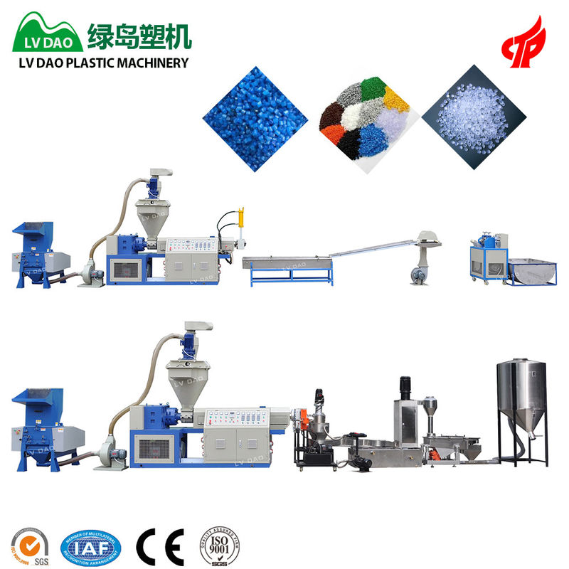 Dry And Clean Pe Film Plastic Waste Shredder Automatic Grade 100 - 120kg/H Output